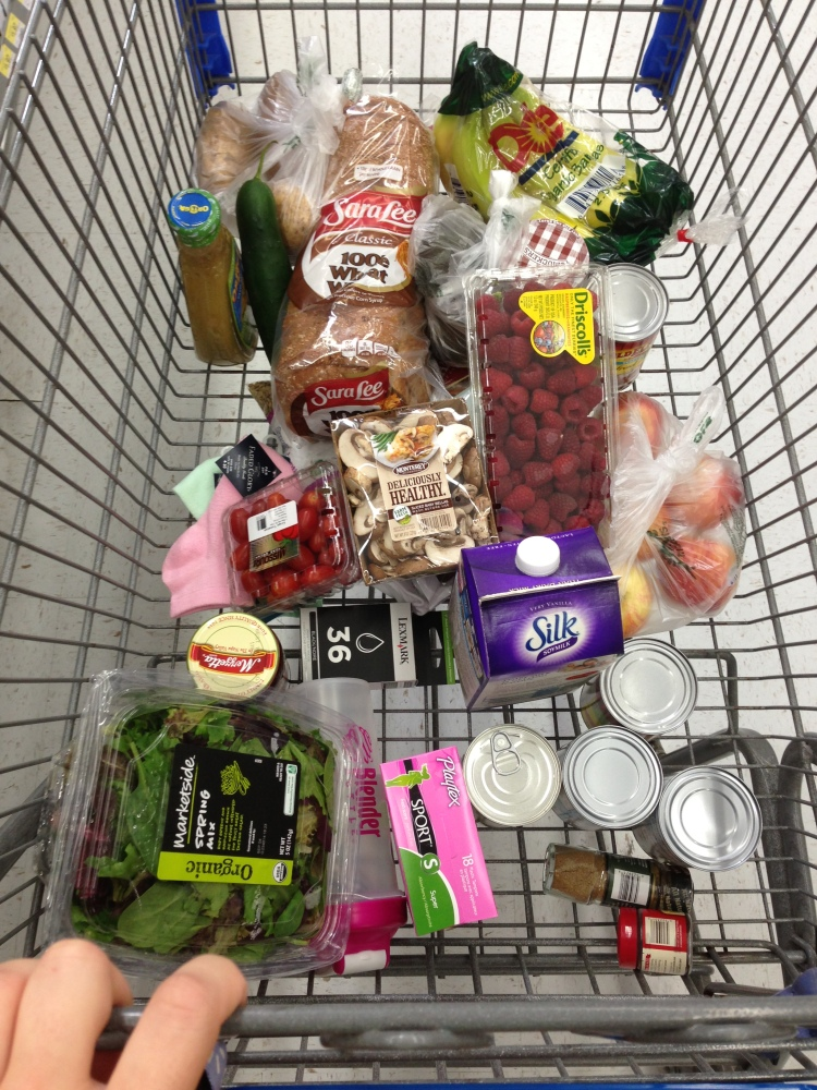My vegan grocery cart makes yet another appearance.